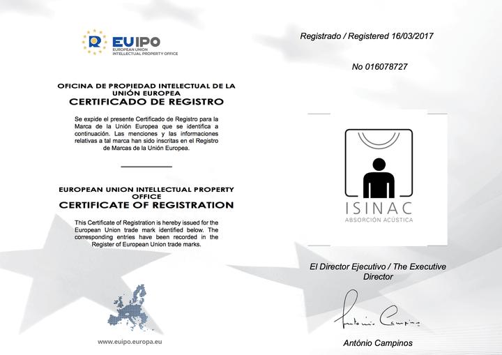 isinac-euipo-marca-absorcion-acustica